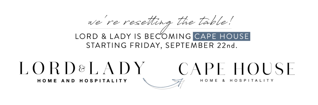 Cape House | Home & Hospitality Boutique | Amelia Island, FL